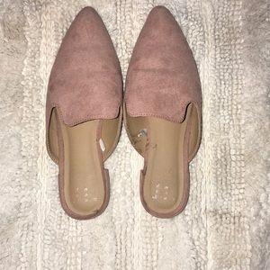 Blush pink mules